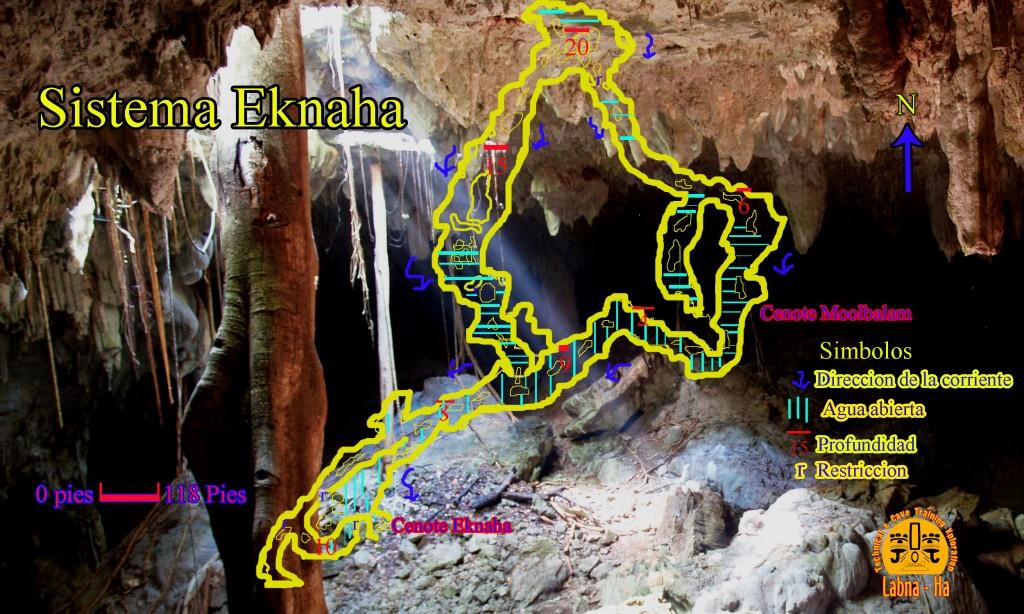 Mapeo preliminar de Eknaha por parte de Sergio Granucci y Pep Linares de LabnaHa